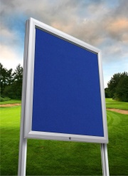 Premium Post Mounted Felt Noticeboard