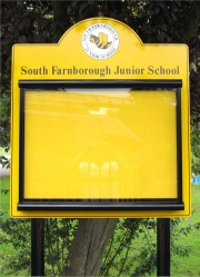 Scroll Superior External School Notice Board