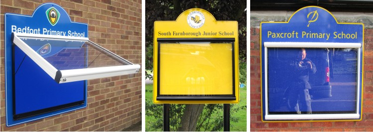 Scroll External Post Mounted Notice Boards