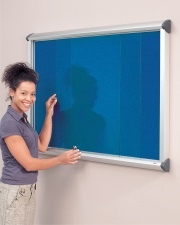 Shield Showcase Sliding Door Notice Board