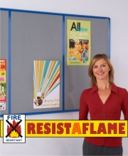 Shield Resist-A-Flame Multi-Bank Notice Boards