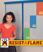 Shield Showline Resist-A-Flame Multi-Bank Notice Board