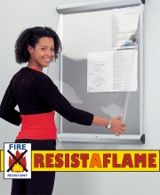 Shield Showline Solo Resist-A-Flame Notice Board