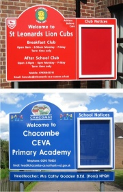 Single Superior External School Notice Board