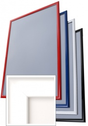 Snap Frame - Lockable - 32mm White Profile