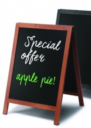 Teak or Black Finish Chalkboard A-Board