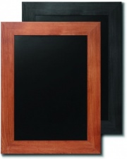 Wide Frame Teak and Black Chalkboards