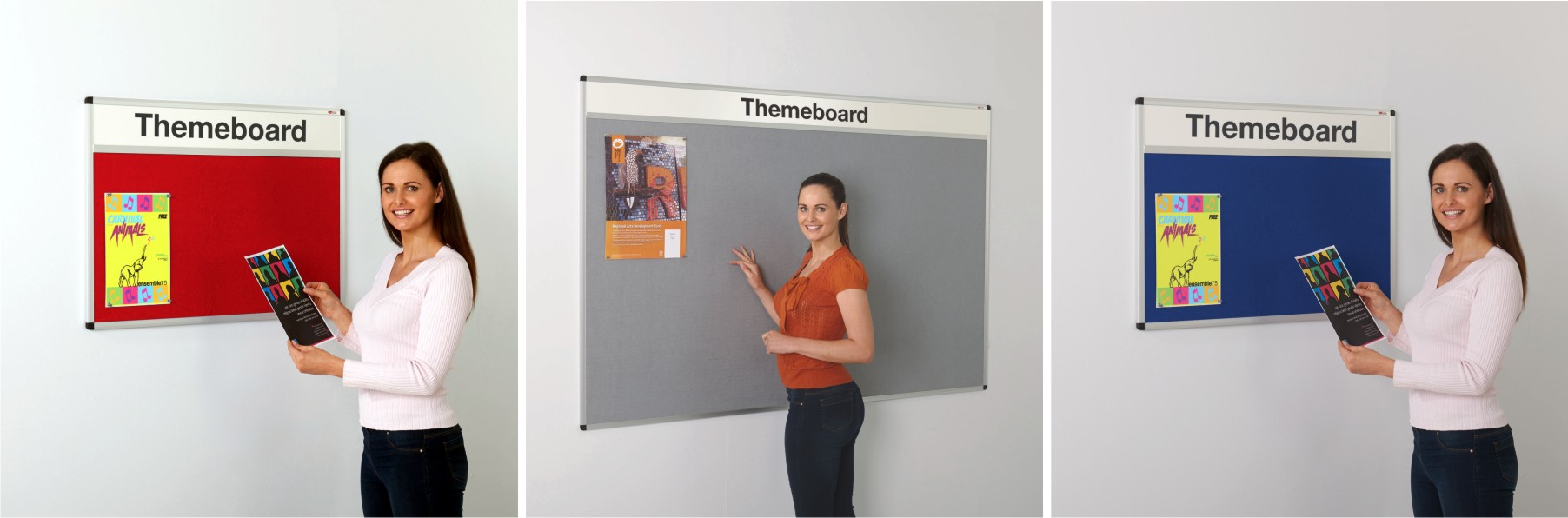 The Metro Aluminium Framed Felt Notice Board