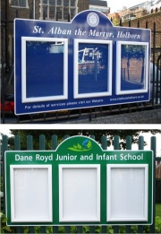 Triple Superior External School Notice Board