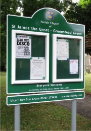 Two Door Superior External School Notice Board