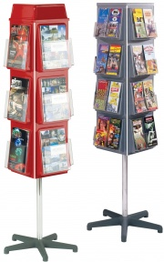 Vibrant 4 Sided Revolving Literature Dispensers