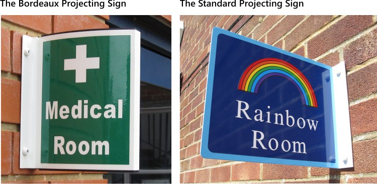 wall mounted projecting signs