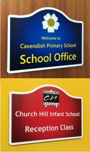 Wave Top Office and Classroom Door Signs