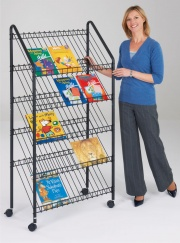Wire Mobile Literature Rack