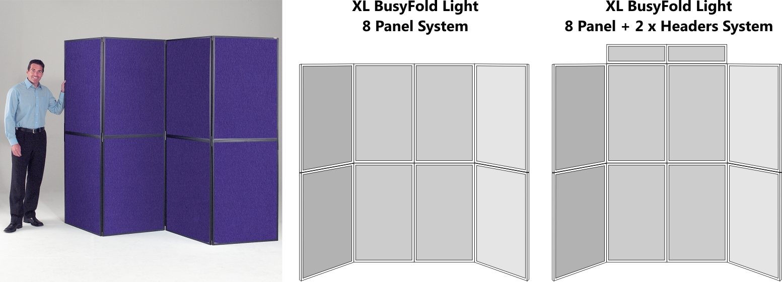 XL BusyFold Light 8 Panel Display System