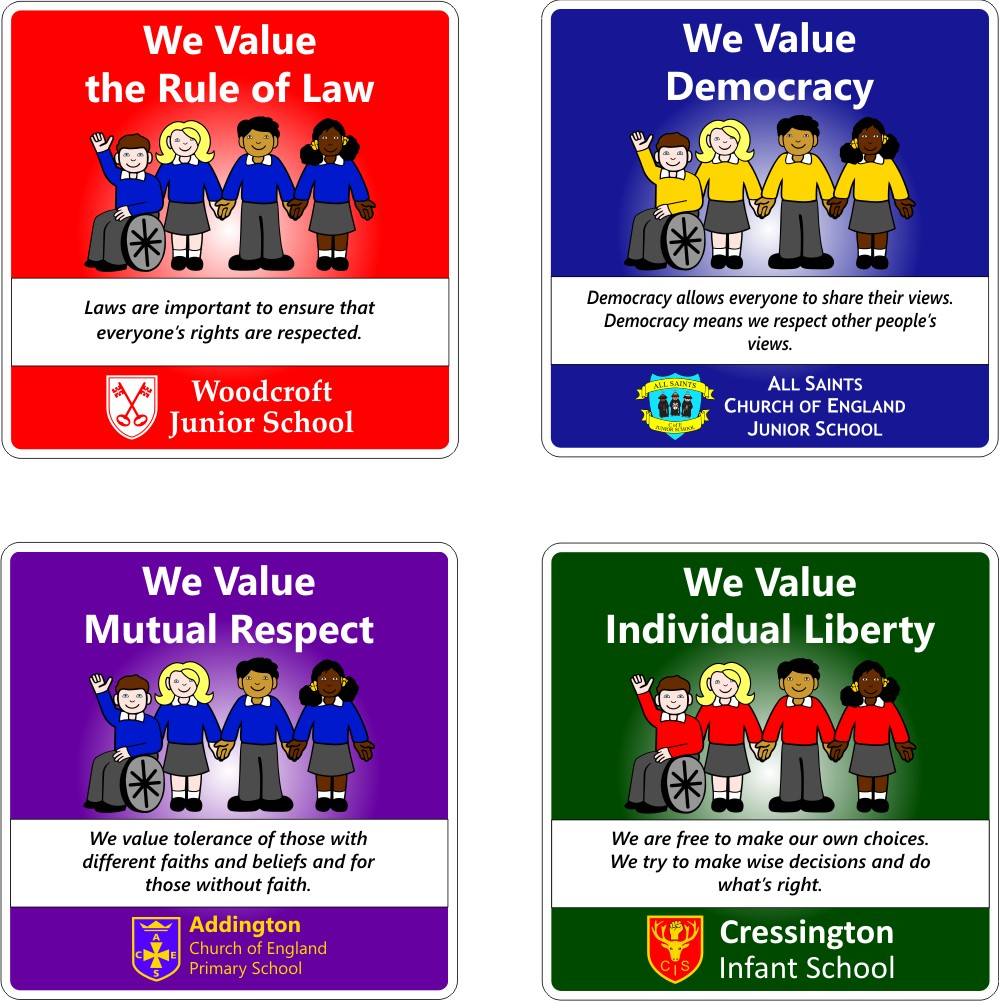 British Values School Signs