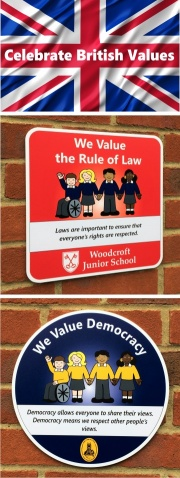 Celebrate Our British Values School Signs