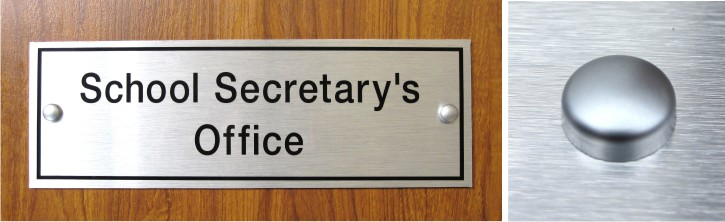 brushed aluminium effect door signs