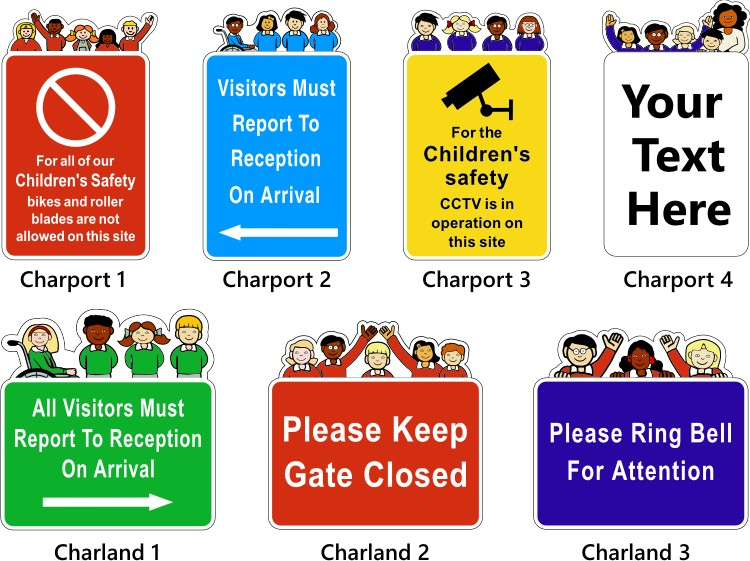 character school notice signs