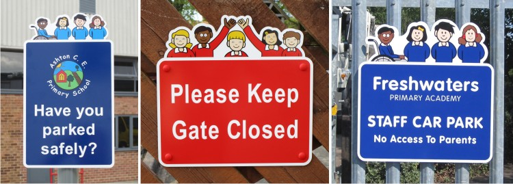 Character School Notice Signs Ideal for use in Primary Schools and Juniur Schools