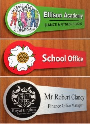 Crest Office and Classroom Door Signs