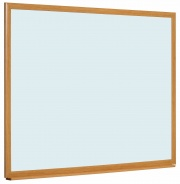 Earth IT - Wood Framed Non Magnetic Drywipe Whiteboard