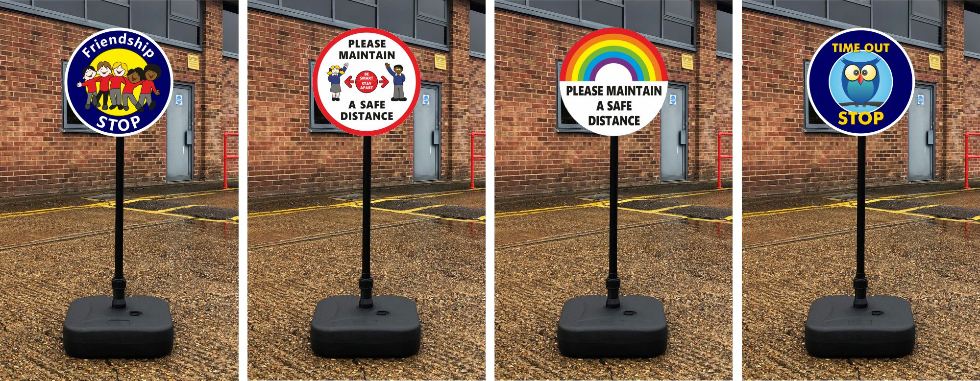lollipop signs for school freestanding signs