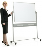The Classic - Mobile Magnetic Drywipe Whiteboard
