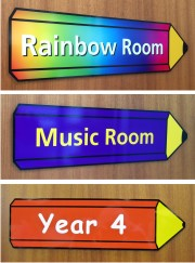 Pencil Shaped Classrooom Door Signs
