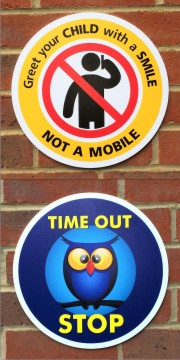 Circular 5mm Foamex School Signs