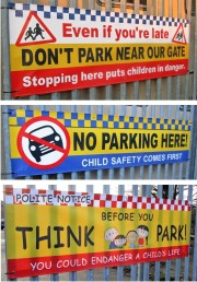 School NO Parking Banners