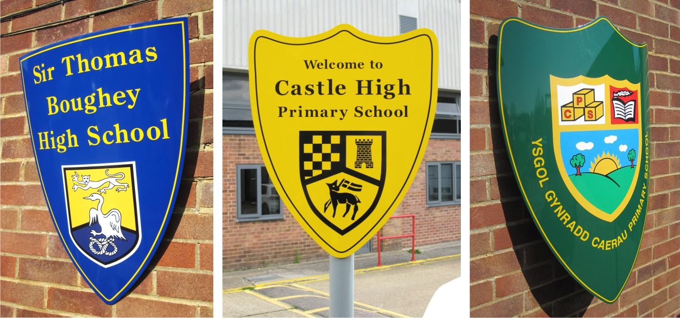 School Shield Signs