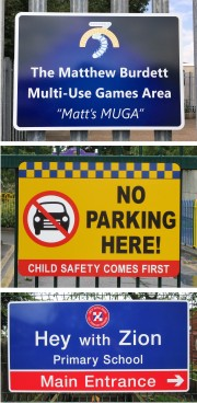 Signs For Metal Railings, Gates and Posts