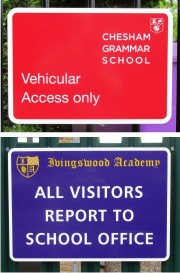 General School Notice Signs - Existing Mounted