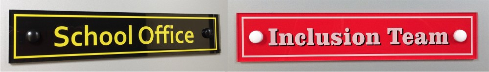 Tamper Resistant Acrylic School Signs
