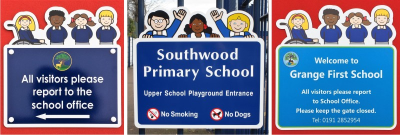 Signs for Schools - Character School Notice Signs