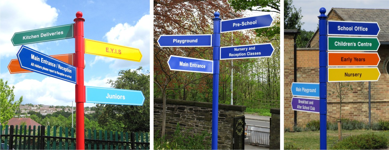 Signs for Schools Fingerpost Signs