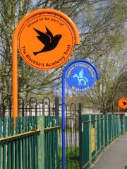 Hooped Top Aluminium School Signs