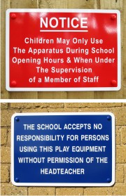 General School Notice Signs - Wall Mounted