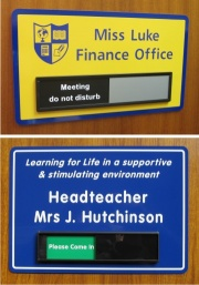 School Sliding Door Signs