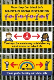 Social Distancing - Banners for Schools