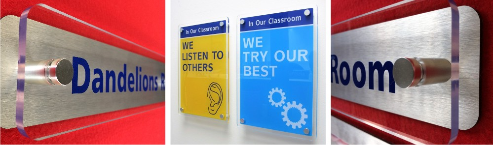 Stand Off Acrylic School Signs