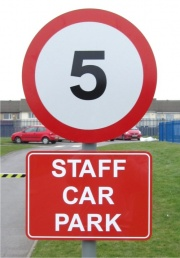 School Site Traffic Calming Signs