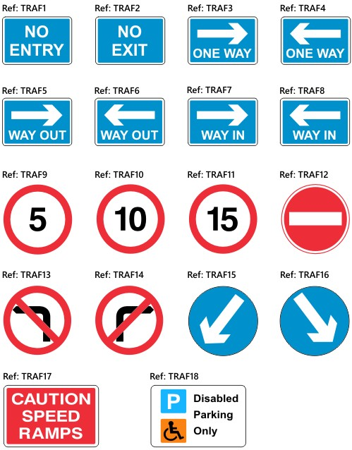 school site reflective traffic signs