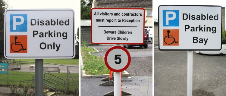 school site speed and traffic signs