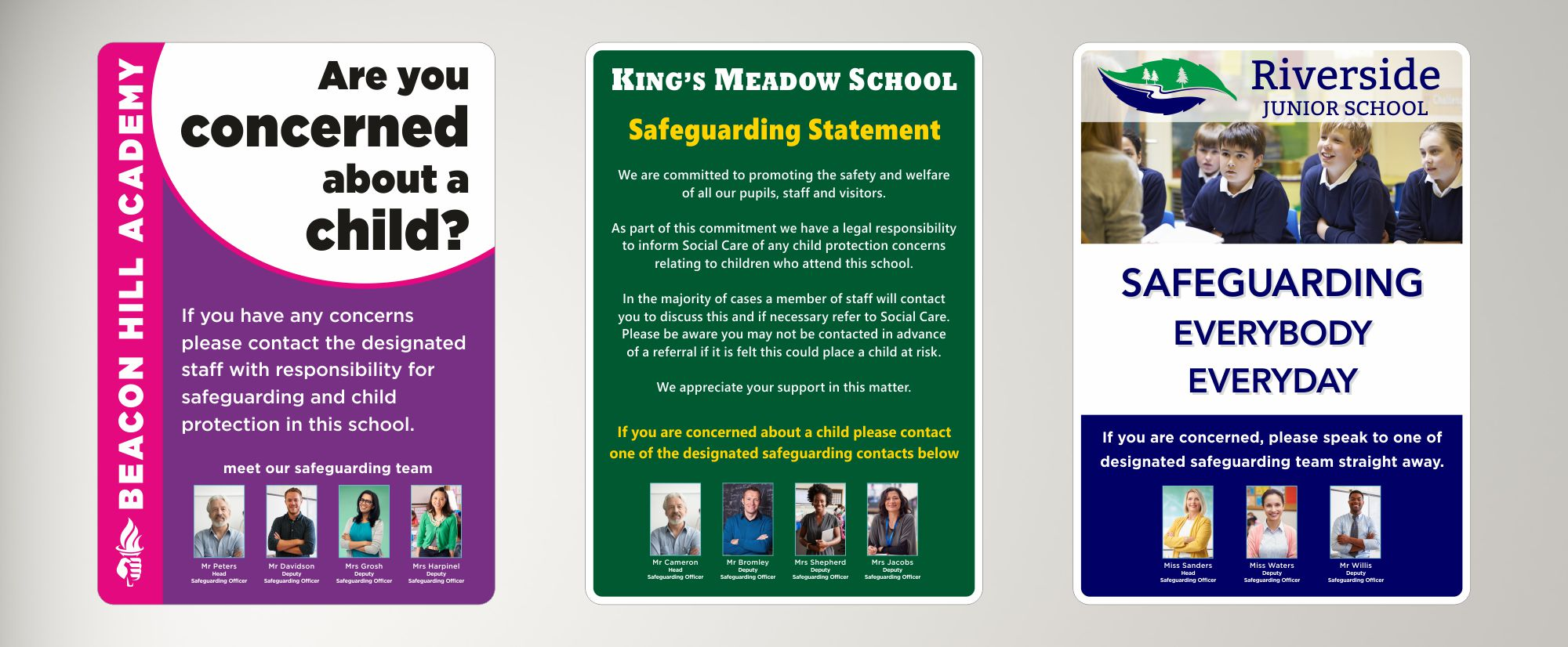 safeguarding signs for schools
