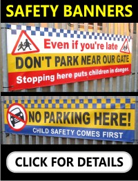 School No Parking Banners Safety Banners
