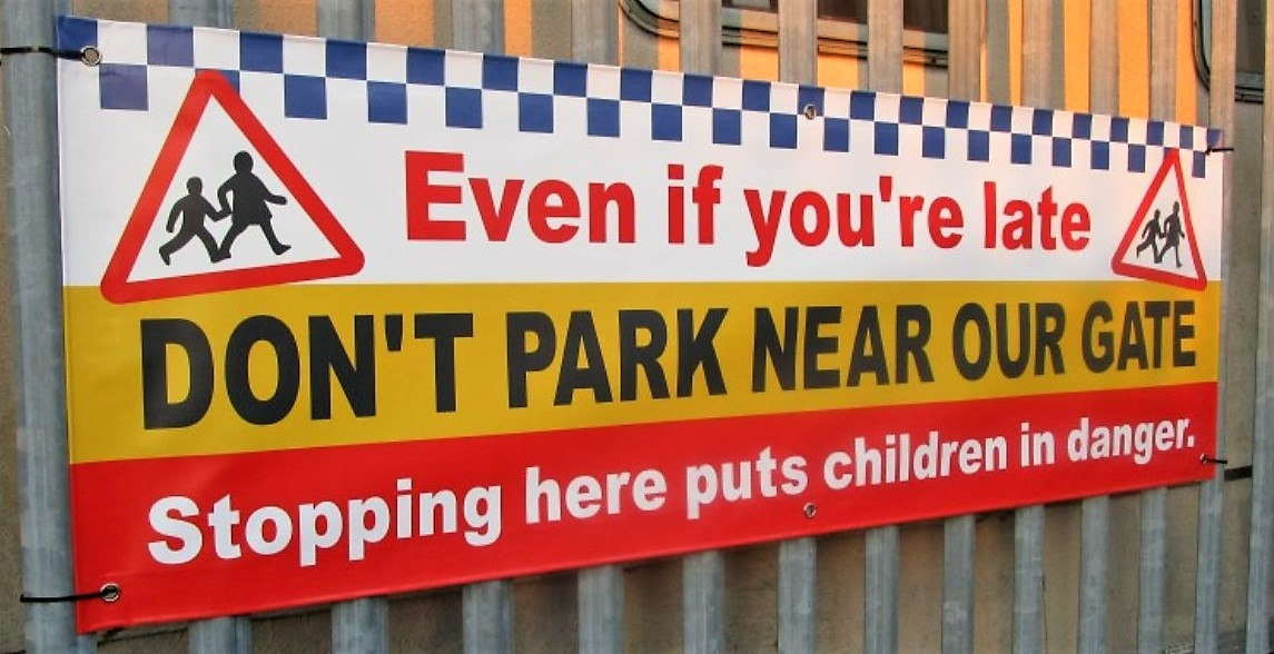 No Parking School Safety Banners